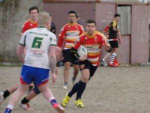 Bolger in action against Burtonwood Bridge