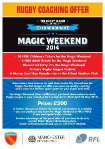 Mancunians Magic Weekend Flyer